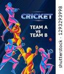 vector design of batsman player ... | Shutterstock .eps vector #1293293998