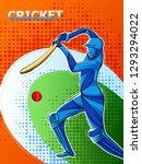 vector design of batsman player ... | Shutterstock .eps vector #1293294022