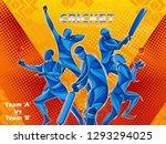 vector design of batsman player ... | Shutterstock .eps vector #1293294025