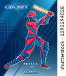 vector design of batsman player ... | Shutterstock .eps vector #1293294028