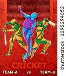 vector design of batsman player ... | Shutterstock .eps vector #1293294052
