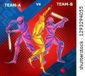 vector design of batsman player ... | Shutterstock .eps vector #1293294055