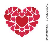 many red and pink hearts form...   Shutterstock .eps vector #1293298642