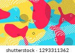 pop art color background.... | Shutterstock .eps vector #1293311362