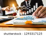 business documents on office... | Shutterstock . vector #1293317125