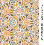 vector seamless pattern with...   Shutterstock .eps vector #129331742