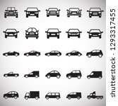 automobile icons set on white... | Shutterstock .eps vector #1293317455