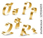 letters of english alphabet... | Shutterstock .eps vector #129334055