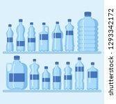plastic bottle set vector... | Shutterstock .eps vector #1293342172