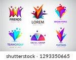 vector set of human  people... | Shutterstock .eps vector #1293350665