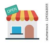 store  open  shop  | Shutterstock .eps vector #1293363055