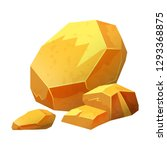 gold nugget  stone  jewel raw...   Shutterstock .eps vector #1293368875