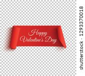 red  happy valentines day... | Shutterstock .eps vector #1293370018