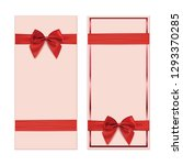 two gift card  banner or poster ... | Shutterstock .eps vector #1293370285