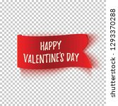 happy valentines day  realistic ... | Shutterstock .eps vector #1293370288
