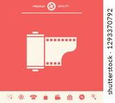 photographic film cassette icon.... | Shutterstock .eps vector #1293370792