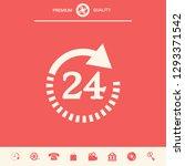 open around the clock symbol... | Shutterstock .eps vector #1293371542