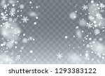 new year snow background.... | Shutterstock .eps vector #1293383122