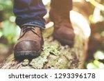 traveler tourist hiker close up ...   Shutterstock . vector #1293396178
