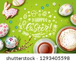vector greeting card with... | Shutterstock .eps vector #1293405598