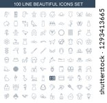 beautiful icons. trendy 100... | Shutterstock .eps vector #1293413665