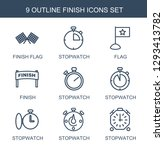 finish icons. trendy 9 finish... | Shutterstock .eps vector #1293413782