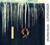 beautiful icicles hanging from...   Shutterstock . vector #1293414025