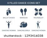 dance icons. trendy 6 dance... | Shutterstock .eps vector #1293416038