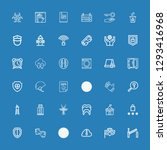 editable 36 protection icons... | Shutterstock .eps vector #1293416968