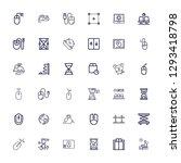 editable 36 wait icons for web... | Shutterstock .eps vector #1293418798