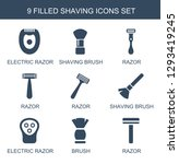 shaving icons. trendy 9 shaving ... | Shutterstock .eps vector #1293419245