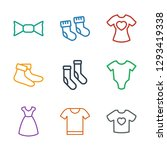 garment icons. trendy 9 garment ... | Shutterstock .eps vector #1293419338