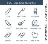 saw icons. trendy 9 saw icons.... | Shutterstock .eps vector #1293419458
