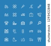 editable 25 accident icons for... | Shutterstock .eps vector #1293422848