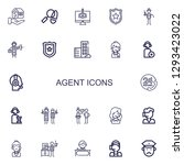 editable 22 agent icons for web ...   Shutterstock .eps vector #1293423022