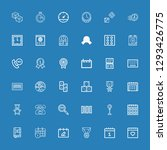 editable 36 number icons for... | Shutterstock .eps vector #1293426775
