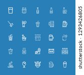 editable 25 beer icons for web... | Shutterstock .eps vector #1293426805