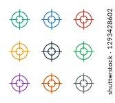 sniper target icon white... | Shutterstock .eps vector #1293428602