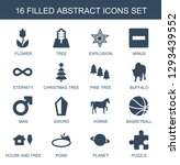 16 abstract icons. trendy... | Shutterstock .eps vector #1293439552