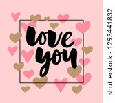 vector valentines day text with ... | Shutterstock .eps vector #1293441832