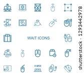 editable 22 wait icons for web... | Shutterstock .eps vector #1293442978