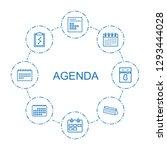 agenda icons. trendy 8 agenda... | Shutterstock .eps vector #1293444028
