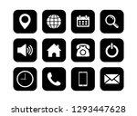 web icon set vector  contact us ...