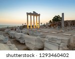 the temple of apollo in side at ... | Shutterstock . vector #1293460402