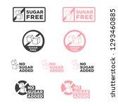 sugar free icon. vector... | Shutterstock .eps vector #1293460885