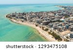 aerial images of the beach of... | Shutterstock . vector #1293475108