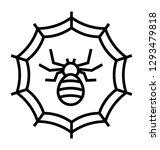 cobweb line icon design  spider ... | Shutterstock .eps vector #1293479818