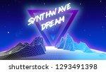 80's retro futuristic... | Shutterstock .eps vector #1293491398