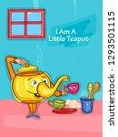 nursery rhymes i am a little... | Shutterstock .eps vector #1293501115