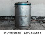 old metal barrel with an... | Shutterstock . vector #1293526555